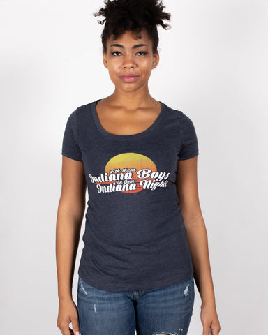 Indiana Boys, Indiana Nights Women's Scoopneck Tee - United State of Indiana: Indiana-Made T-Shirts and Gifts