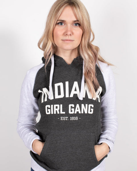 Indiana Girl Gang Women's Hoodie ***CLEARANCE*** - United State of Indiana: Indiana-Made T-Shirts and Gifts