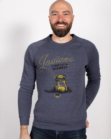 Light of the Midwest Crewneck Sweatshirt - United State of Indiana: Indiana-Made T-Shirts and Gifts