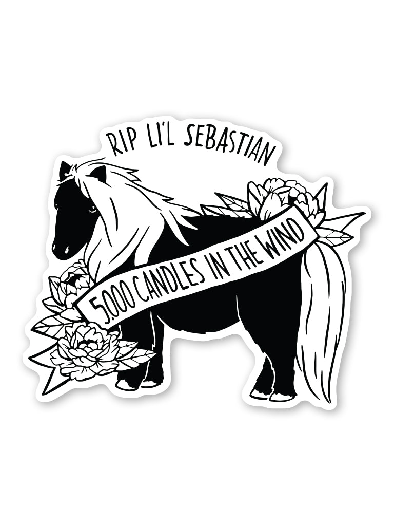 5000 Candles Lil Sebastian Sticker