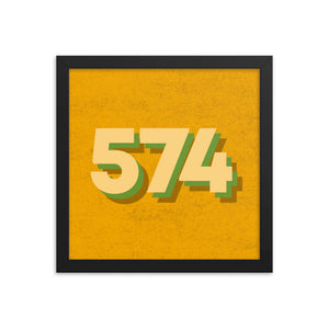 574 Area Code Poster