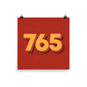 765 Area Code Poster