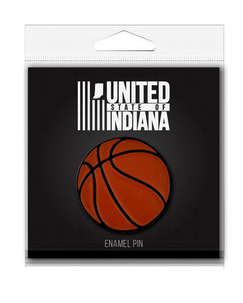 Basketball Enamel Pin - United State of Indiana: Indiana-Made T-Shirts and Gifts