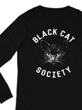 Black Cat Society Long Sleeve Tee