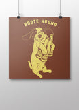 Booze Hound Poster - United State of Indiana: Indiana-Made T-Shirts and Gifts