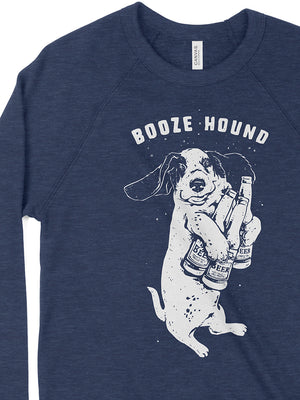 Booze Hound Crewneck Sweatshirt - United State of Indiana: Indiana-Made T-Shirts and Gifts