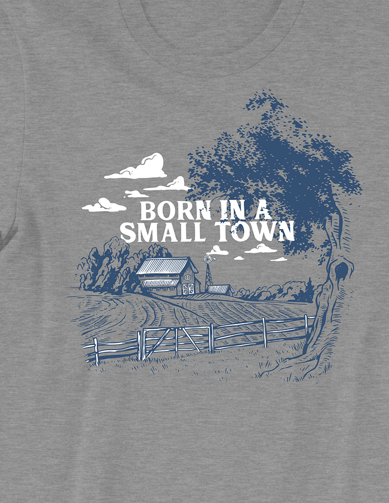 Born in a Small Town Tee - United State of Indiana: Indiana-Made T-Shirts and Gifts