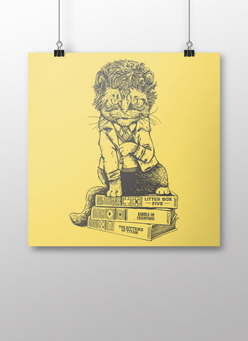 Cat Vonnegut Poster - United State of Indiana: Indiana-Made T-Shirts and Gifts