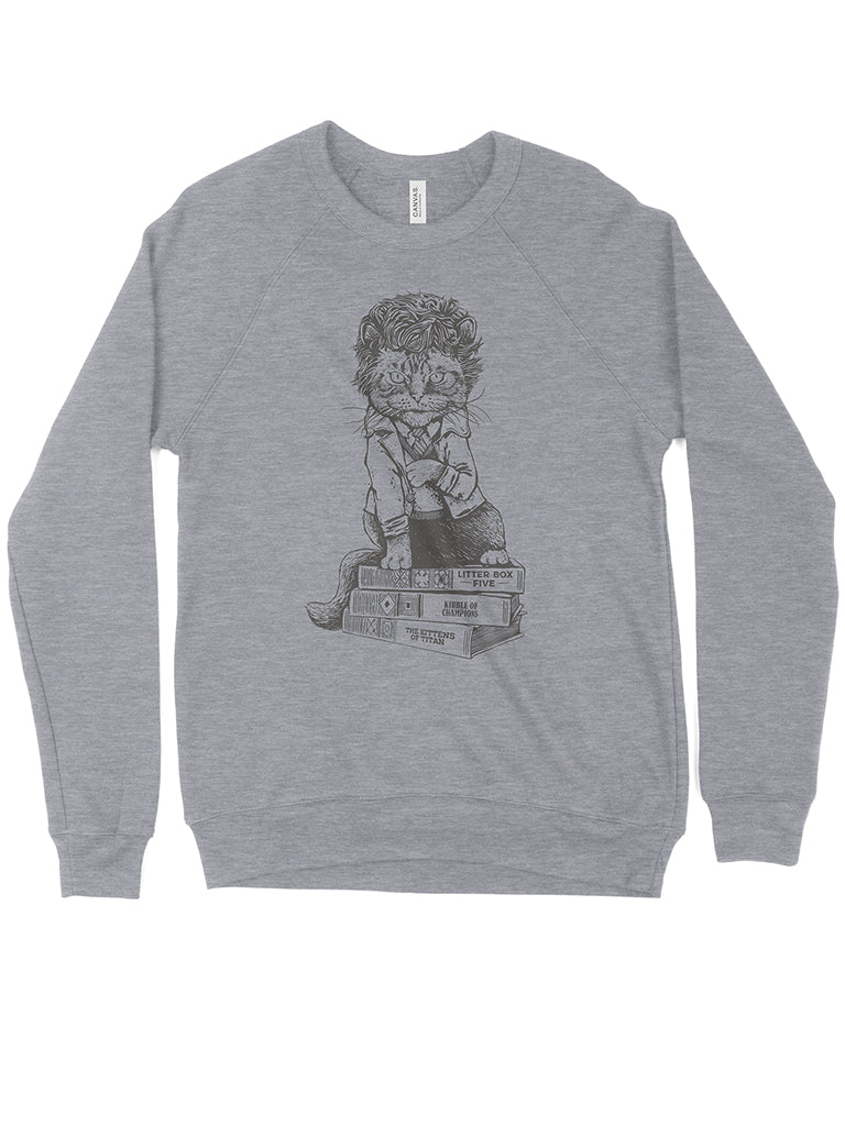 Cat Vonnegut Crewneck Sweatshirt - United State of Indiana: Indiana-Made T-Shirts and Gifts
