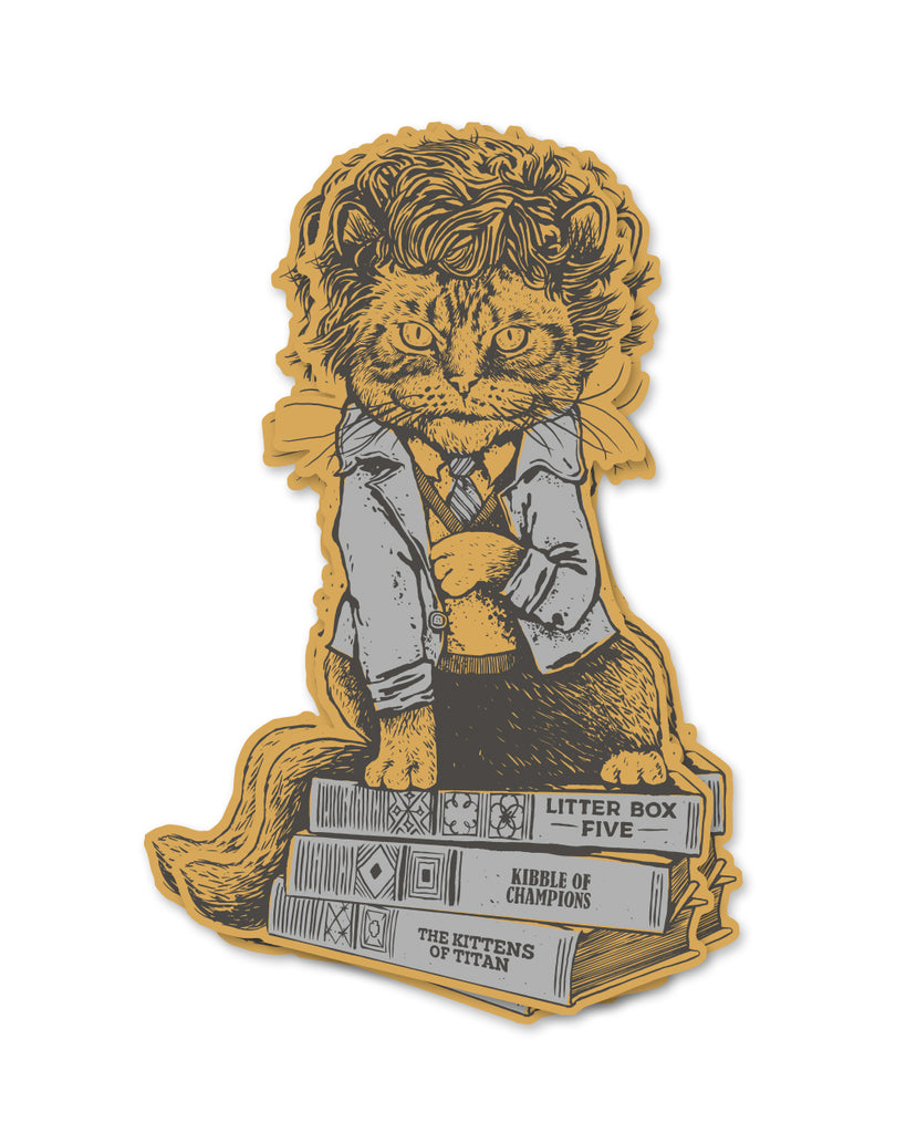 Cat Vonnegut Sticker - United State of Indiana: Indiana-Made T-Shirts and Gifts