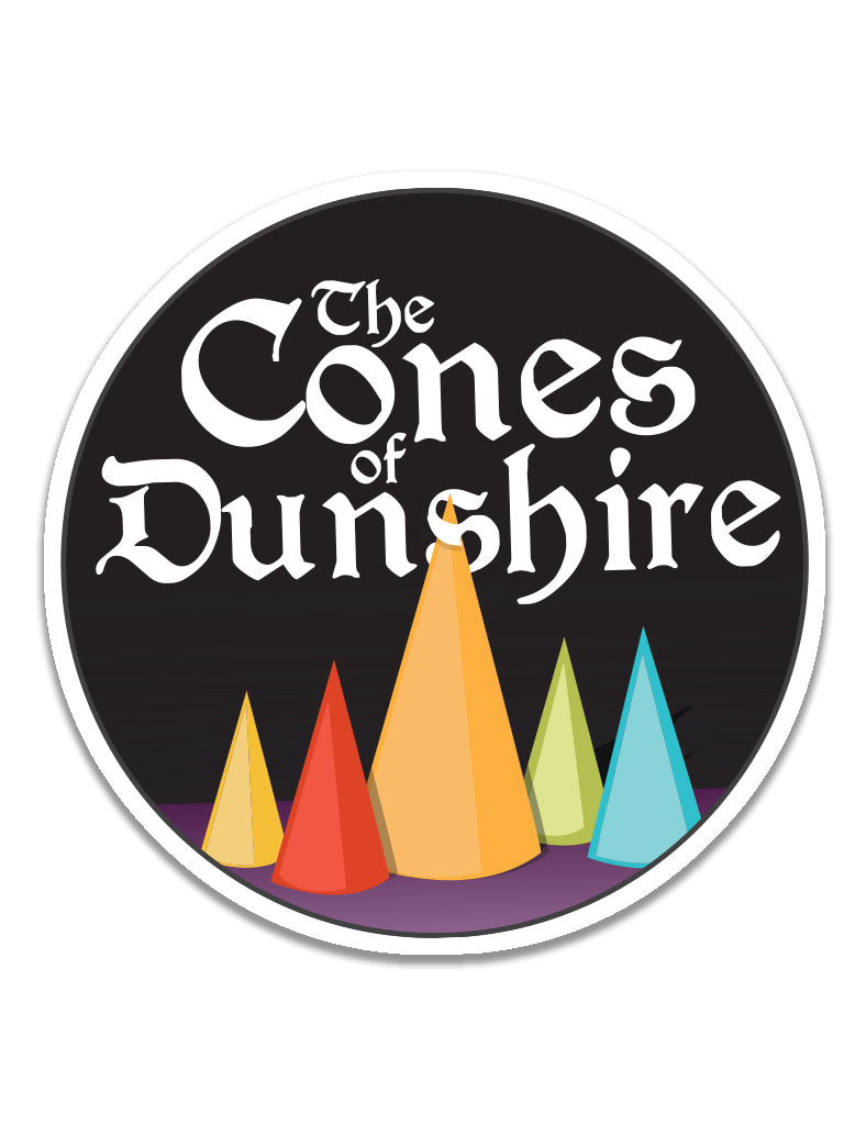 Cones of Dunshire Sticker - United State of Indiana: Indiana-Made T-Shirts and Gifts