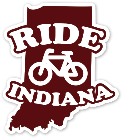 Ride Indiana Sticker - United State of Indiana: Indiana-Made T-Shirts and Gifts