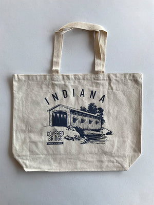 Covered Bridge Tote Bag - United State of Indiana: Indiana-Made T-Shirts and Gifts