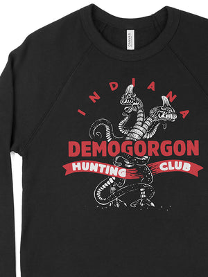 Demogorgon Hunting Club Crewneck Sweatshirt - United State of Indiana: Indiana-Made T-Shirts and Gifts