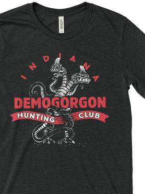 Demogorgon Hunting Club Tee - United State of Indiana: Indiana-Made T-Shirts and Gifts
