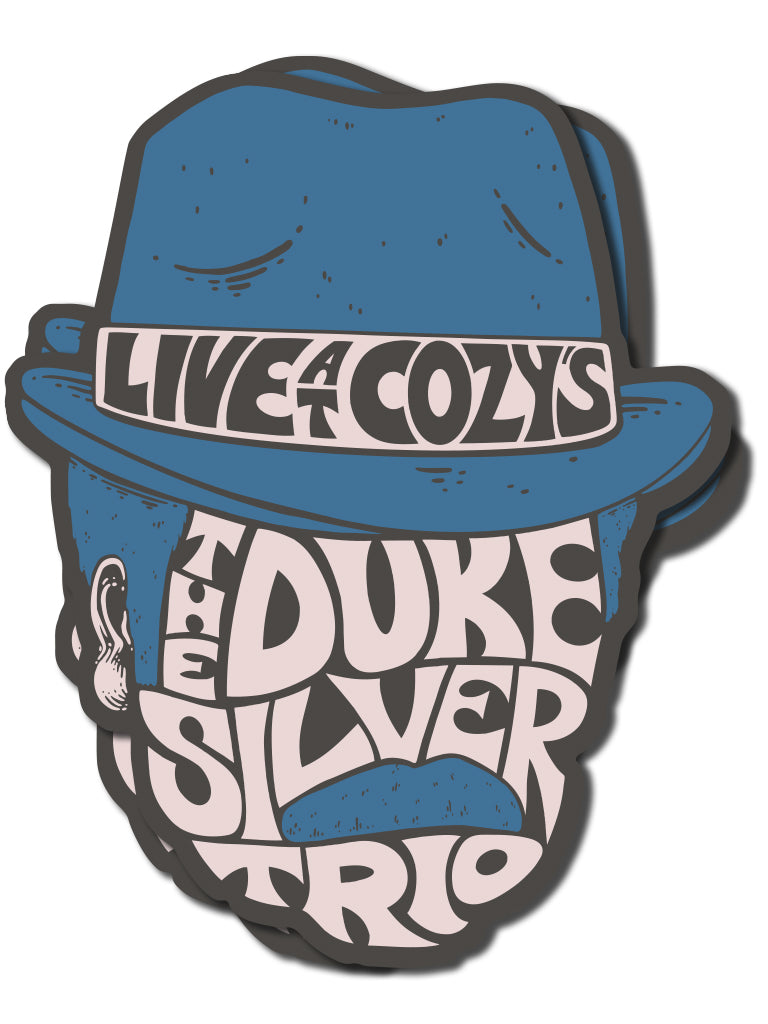 Duke Silver Trio Sticker - United State of Indiana: Indiana-Made T-Shirts and Gifts