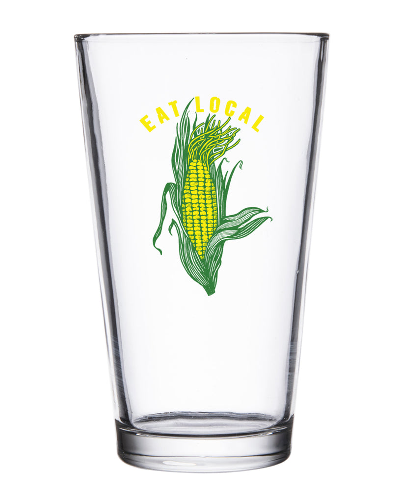 Eat Local Pint Glass - United State of Indiana: Indiana-Made T-Shirts and Gifts