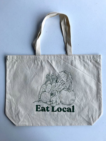 Garden Eat Local Tote Bag - United State of Indiana: Indiana-Made T-Shirts and Gifts