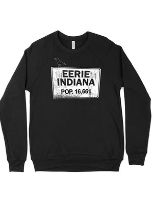 Eerie Indiana Crewneck Sweatshirt - United State of Indiana: Indiana-Made T-Shirts and Gifts