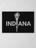 "Enlightened Indiana Canvas - Black / 12 x 20"" from United State of Indiana  - 2"