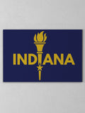 "Enlightened Indiana Canvas - Navy / 12 x 20"" from United State of Indiana  - 1"