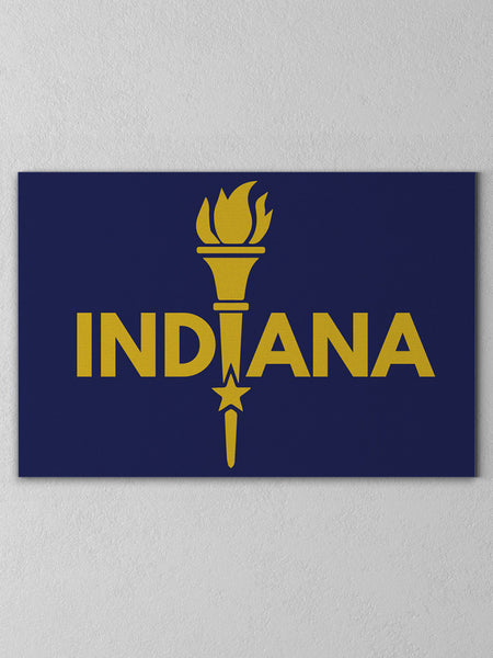 Enlightened Indiana Canvas - United State of Indiana: Indiana-Made T-Shirts and Gifts