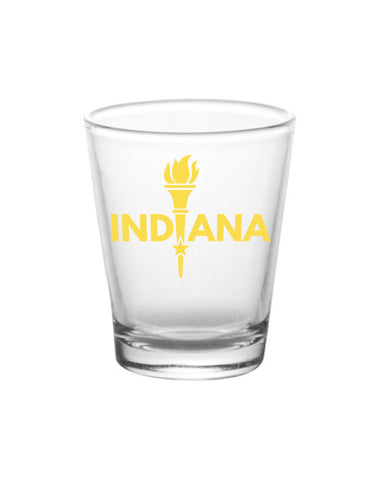 Enlightened Indiana Shot Glass