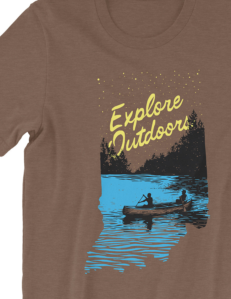 Explore Outdoors Tee - United State of Indiana: Indiana-Made T-Shirts and Gifts