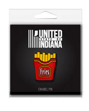 French Fries Enamel Pin - United State of Indiana: Indiana-Made T-Shirts and Gifts