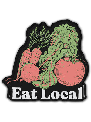 Garden Eat Local Sticker - United State of Indiana: Indiana-Made T-Shirts and Gifts