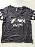 Indiana Girl Gang Women's Curvy Tee - United State of Indiana: Indiana-Made T-Shirts and Gifts