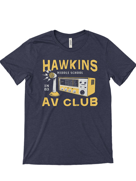 Hawkins A.V. Club Unisex Tee - United State of Indiana: Indiana-Made T-Shirts and Gifts