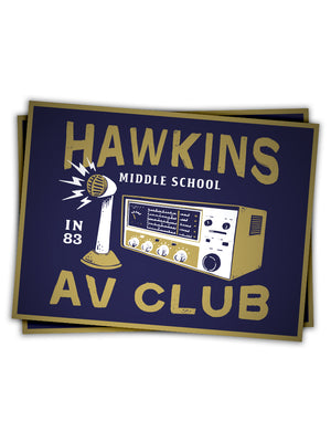 Hawkins AV Club Sticker - United State of Indiana: Indiana-Made T-Shirts and Gifts