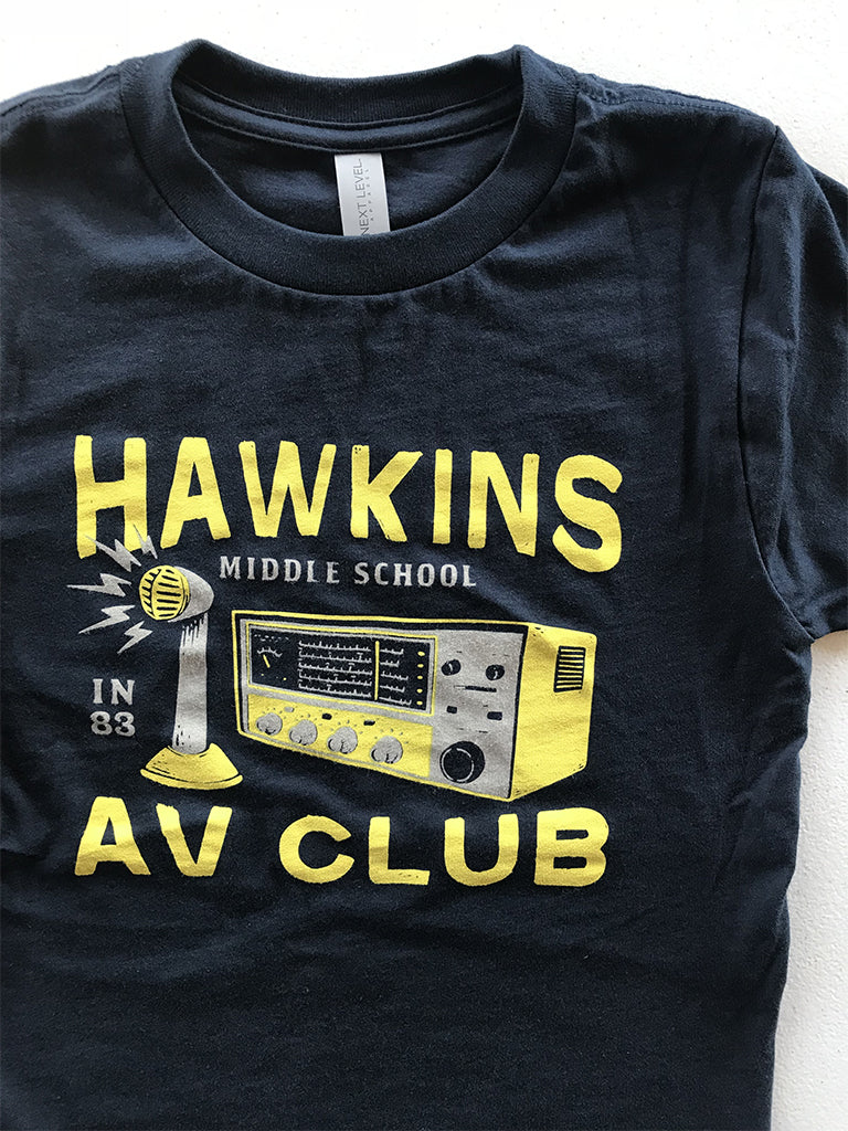 Hawkins AV Club Youth Tee - United State of Indiana: Indiana-Made T-Shirts and Gifts