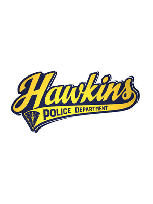 Hawkins PD Sticker - United State of Indiana: Indiana-Made T-Shirts and Gifts