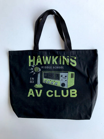 Hawkins AV Club Tote Bag - United State of Indiana: Indiana-Made T-Shirts and Gifts