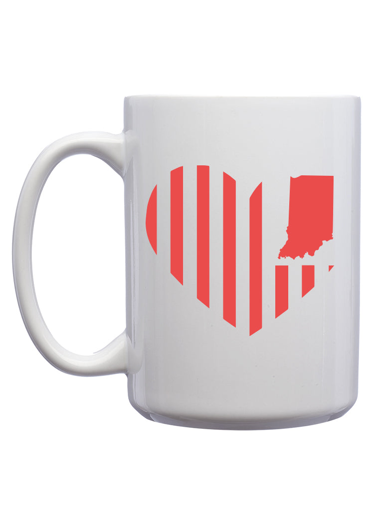 Heart Flag Mug - United State of Indiana: Indiana-Made T-Shirts and Gifts