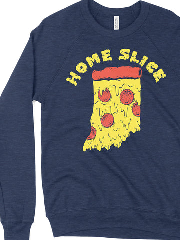 Home Slice Crewneck Sweatshirt - United State of Indiana: Indiana-Made T-Shirts and Gifts