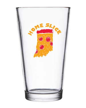 Home Slice Pint Glass - United State of Indiana: Indiana-Made T-Shirts and Gifts