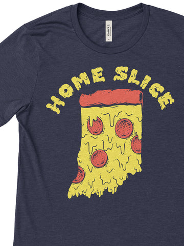 Home Slice Tee - United State of Indiana: Indiana-Made T-Shirts and Gifts