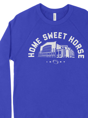 Home Sweet Horse Crewneck Sweatshirt - United State of Indiana: Indiana-Made T-Shirts and Gifts