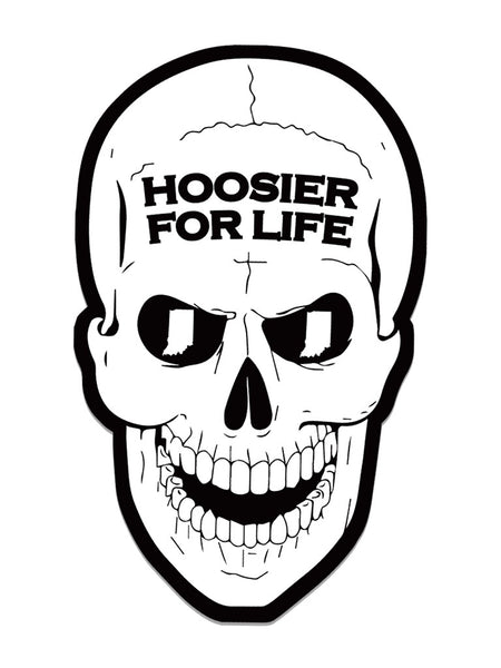 Hoosier For Life Sticker