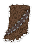 Hoosier Wookie Sticker - United State of Indiana: Indiana-Made T-Shirts and Gifts