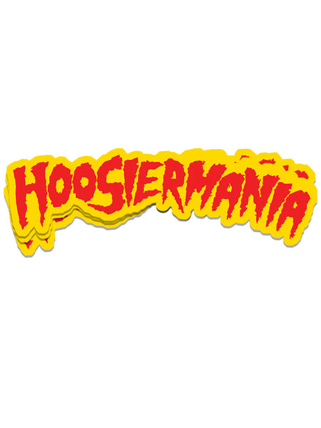 Hoosiermania Runs Wild Sticker - United State of Indiana: Indiana-Made T-Shirts and Gifts