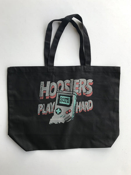 Hoosiers Play Hard Tote Bag - United State of Indiana: Indiana-Made T-Shirts and Gifts