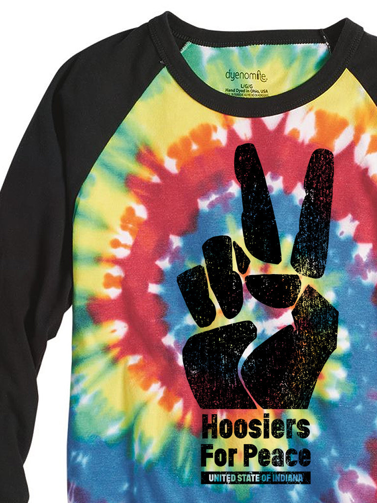 Hoosiers for Peace Baseball Tee - United State of Indiana: Indiana-Made T-Shirts and Gifts
