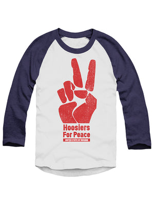 Hoosiers for Peace Baseball Tee