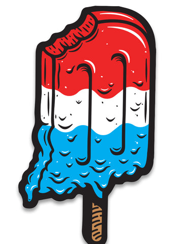 Hoosiersicle Sticker - United State of Indiana: Indiana-Made T-Shirts and Gifts