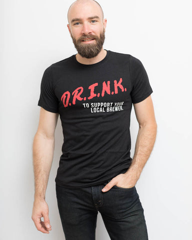 D.R.I.N.K. Unisex Tee - United State of Indiana: Indiana-Made T-Shirts and Gifts
