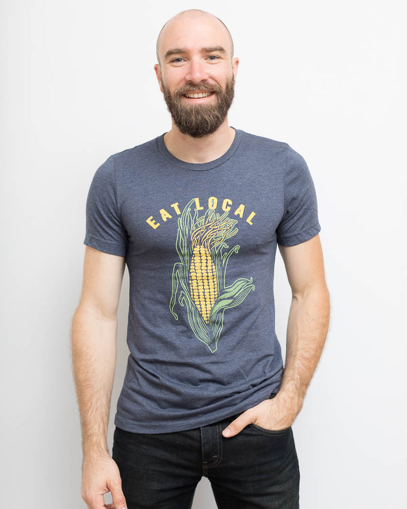 Eat Local Corn Tee - United State of Indiana: Indiana-Made T-Shirts and Gifts